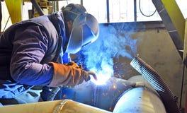 焊工 图库摄影
