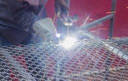 焊接与一刹那光的一张净桌 库存图片
