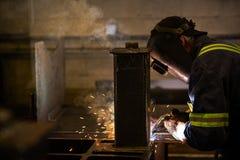 焊接在工厂 库存照片