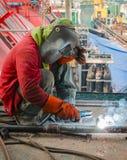焊接在建造场所 图库摄影