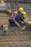 焊接工作者,焊接增强标尺 免版税库存图片