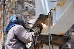 焊接工作者 免版税库存图片