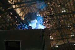 焊接工作者 库存图片