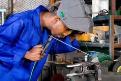 焊接工作者 免版税库存照片