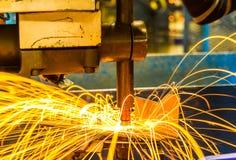 焊接斑点机器 免版税库存图片