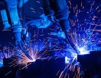 焊接机器人 库存图片