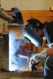 焊接槽孔 图库摄影