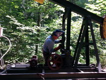 焊接油田设备 免版税库存图片