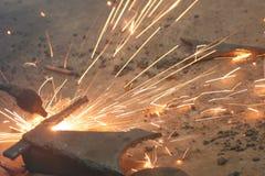 焊接火 库存图片