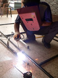 焊接焊工 免版税库存照片