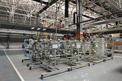 焊接生产线讨论会 免版税库存图片