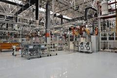 焊接生产线讨论会 库存图片