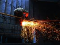 焊接的工作 图库摄影