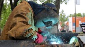 焊接的工作 库存照片