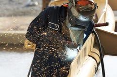 焊接的工作 库存图片