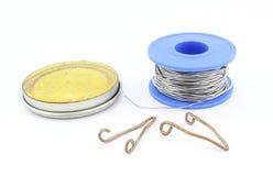 焊接的工具和辅助部件 库存照片