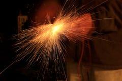 焊接的火花 库存图片