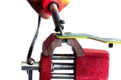 焊接的电路板 免版税库存照片