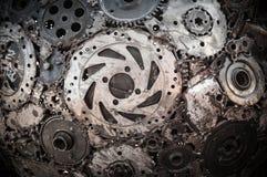 焊接的缝金属背景 免版税库存图片