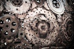 焊接的缝金属背景 免版税库存照片