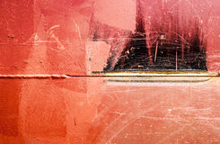 焊接的缝,金属背景 库存照片