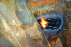 焊接艺术  免版税库存图片