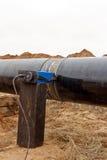 焊接造影在气体管道的 库存照片