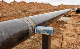 焊接造影在气体管道的 图库摄影