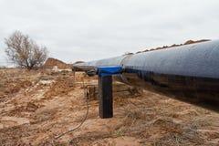 焊接造影在气体管道的 库存图片