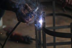 焊接钢,版本2的工作者 免版税库存照片
