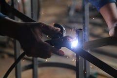 焊接钢,版本3的工作者 免版税库存图片