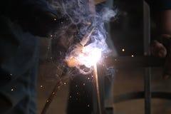 焊接钢,版本4的工作者 库存照片