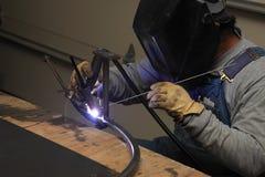 焊接钢 免版税库存照片