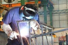 焊接结构 免版税库存图片