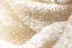 焕发光打击白色珍珠闪烁bokeh和阳光valent浪漫的心情的 免版税库存图片