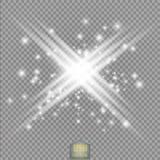 焕发光线影响 与闪闪发光的星爆炸 晒裂 力量能量霓虹灯宇宙摘要 皇族释放例证