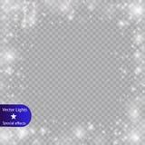 焕发光线影响 也corel凹道例证向量 圣诞节一刹那尘土 库存照片
