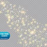 焕发光线影响 也corel凹道例证向量 圣诞节一刹那概念 免版税库存图片