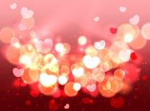 焕发软的心脏情人节背景 皇族释放例证