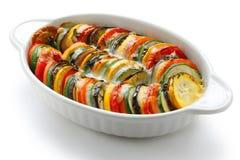 焦干酪蔬菜 库存照片
