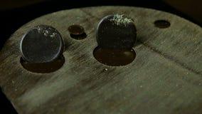 焦点在现代早餐点心的圆的巧克力圈子装饰 影视素材