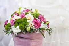 焦点花卉表婚礼 免版税库存照片