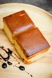 焦糖乳蛋糕蛋糕 免版税库存照片