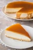 焦糖乳酪蛋糕 免版税库存图片