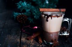 焦糖咖啡拿铁 免版税图库摄影