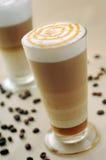 焦糖咖啡 免版税库存照片