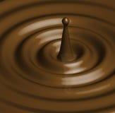 焦糖巧克力例证波纹 库存图片