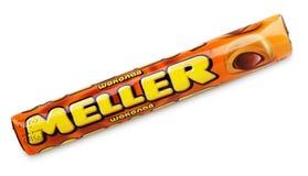 焦糖巧克力嚼Meller 免版税库存图片