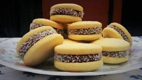 焦糖曲奇饼 库存照片
