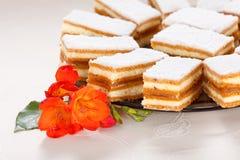 焦糖蛋糕 库存照片